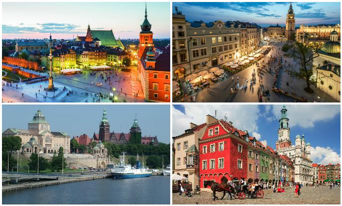 В каких городах Польши больше всего открытых вакансий