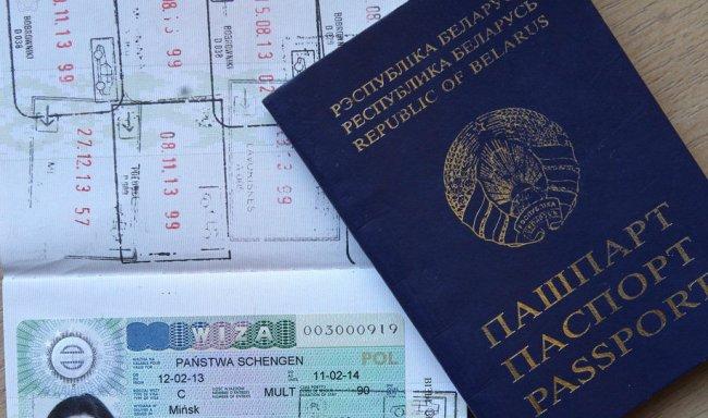 Виза в Польшу для белорусов